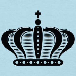 Ornate-black-royal-crowns-black king-black -vector - Women's T-Shirt