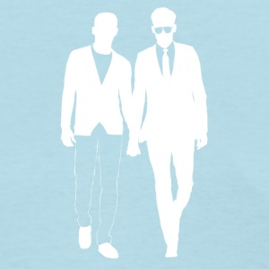 Guys holding hands gay men from Bent Sentiments - Women's T-Shirt