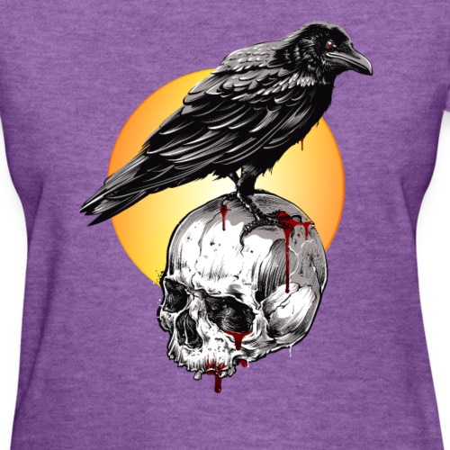 Raven & Skull Circle of Death Halloween T-Shirt - Women's T-Shirt
