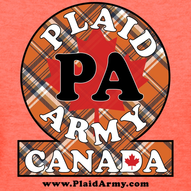 Plaid Army orange plaid army crest