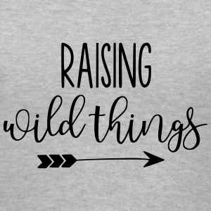 Raising Wild Things Mom Life - Women's V-Neck T-Shirt