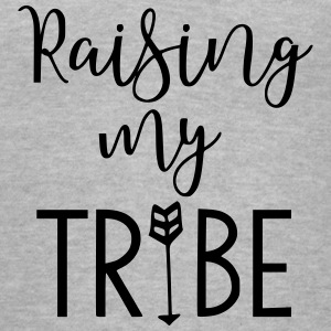 Raising My Tribe Mom Design - Women's V-Neck T-Shirt