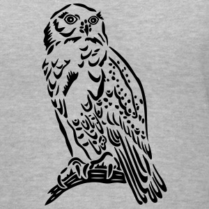 Beautiful Snowy Owl in Tattoo Style. - Women's V-Neck T-Shirt