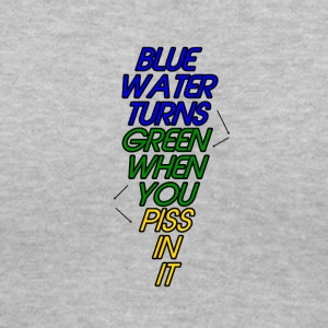 Blue Water Turns Green - Women's V-Neck T-Shirt