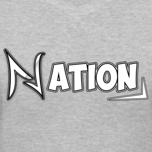 Nation Logo Design - Women's V-Neck T-Shirt