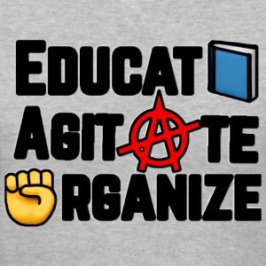 Educate, Agitate, Organize - Women's V-Neck T-Shirt