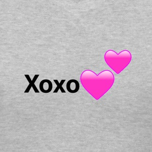 Xoxo Hearts Design - Women's V-Neck T-Shirt