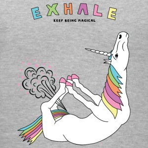 Bow Pose Unicorn Exhale Outline - Women's V-Neck T-Shirt