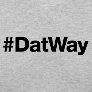 DatWay - Hashtag Design (Black Letters) - Women's V-Neck T-Shirt