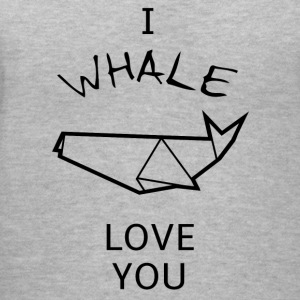 Funny and sweet WHALE Pun T-shirt design - Women's V-Neck T-Shirt