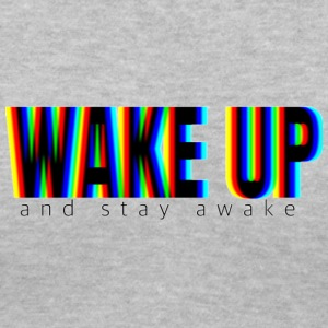 WAKE UP (and stay awake) - Women's V-Neck T-Shirt