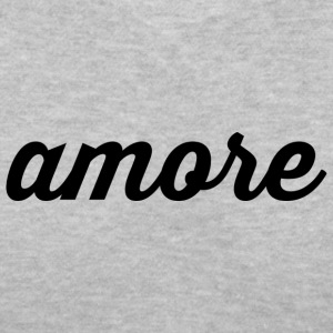 Amore - Cursive Design (Black Letters) - Women's V-Neck T-Shirt