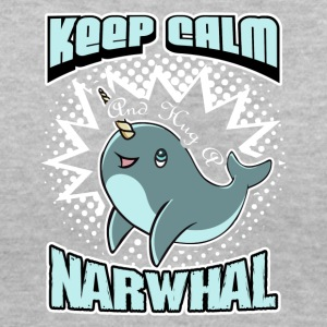 KEEP CALM AND HUG A NARWHAL SHIRT - Women's V-Neck T-Shirt