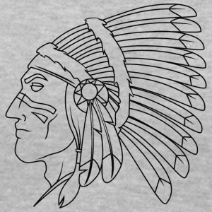 american_indian_chief_with_colored_face_black - Women's V-Neck T-Shirt