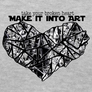 MAKE IT INTO ART - Women's V-Neck T-Shirt