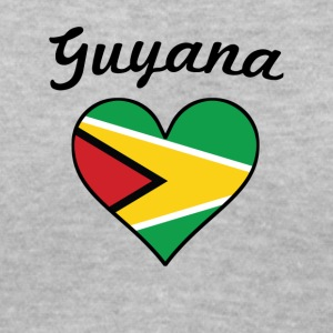 Guyana Flag Heart - Women's V-Neck T-Shirt