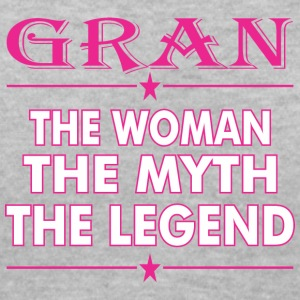 Gran The Woman The Myth The Legend - Women's V-Neck T-Shirt