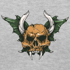 demon_skull - Women's V-Neck T-Shirt