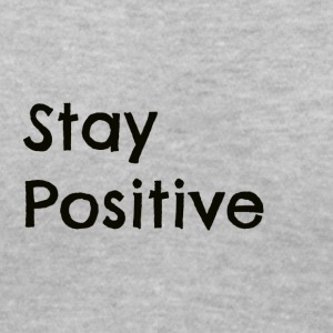 Stay Positive Black - Women's V-Neck T-Shirt
