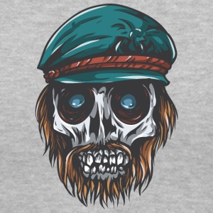 dead_captain_skull - Women's V-Neck T-Shirt