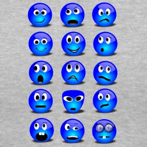 Emotional Emoticons - Women's V-Neck T-Shirt