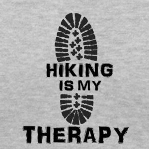 Hiking Is My Therapy - Women's V-Neck T-Shirt