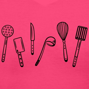 Kitchen utensils for cooking. - Women's V-Neck T-Shirt