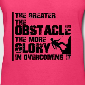 The greater the obstacle T-shirt design - Women's V-Neck T-Shirt