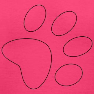 Paw contour - Women's V-Neck T-Shirt