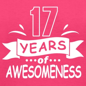 17 years of awesomeness - Women's V-Neck T-Shirt