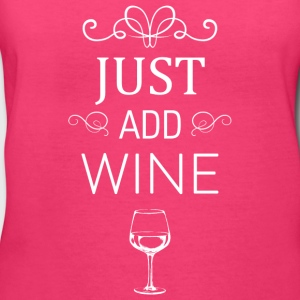 Just Add Wine White - Women's V-Neck T-Shirt