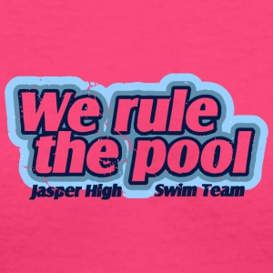 We Rule The Pool Jasper High Swim Team - Women's V-Neck T-Shirt