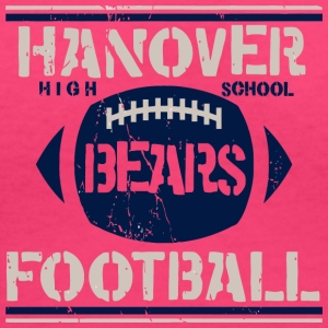 Hanover High School Bears Football - Women's V-Neck T-Shirt