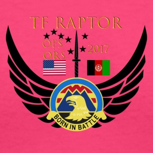 Task Force Raptor Deployment Crest - Women's V-Neck T-Shirt