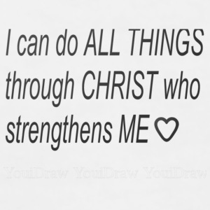 I can do all things through Christ - Women's V-Neck T-Shirt