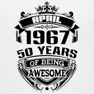 april 1967 50 years of being awesome - Women's V-Neck T-Shirt