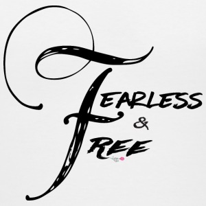 Fearless and Free2 Print - Women's V-Neck T-Shirt