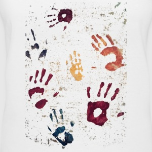 Hands paint - Women's V-Neck T-Shirt