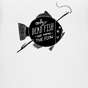 Only Dead Fish Go With The Flow - Women's V-Neck T-Shirt
