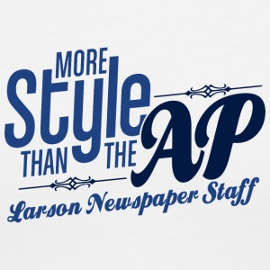 Larson Newspaper Staff - Women's V-Neck T-Shirt