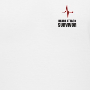 heart attack survivor, - Women's V-Neck T-Shirt