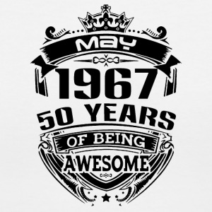 may 1967 50 years - Women's V-Neck T-Shirt