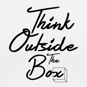 Think Outside The Box - Women's V-Neck T-Shirt