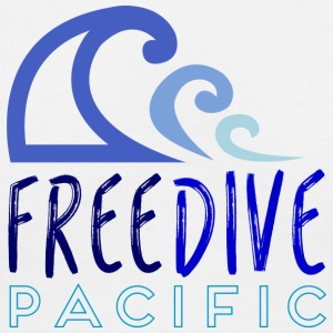 Freedive pacific - Women's V-Neck T-Shirt