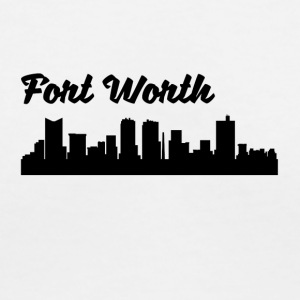 Fort Worth TX Skyline - Women's V-Neck T-Shirt