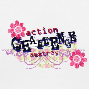 ACTION DESTROY - Women's V-Neck T-Shirt