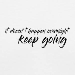 Keep going - Simple T-Shirt - Daily Motivation - Women's V-Neck T-Shirt