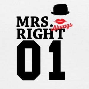 Mrs right - Women's V-Neck T-Shirt