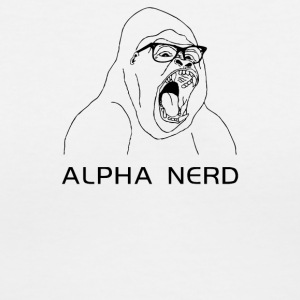Alpha Nerd - Women's V-Neck T-Shirt