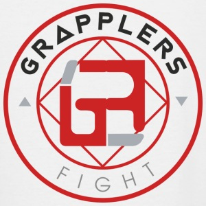 Light 001 grapplersfight LOGO Back - Women's V-Neck T-Shirt